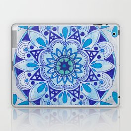 Simpe Blue Mandala Laptop & iPad Skin