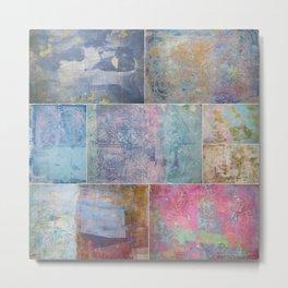 Collage monoprints Metal Print