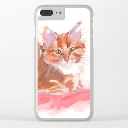 Ginger Girl Clear iPhone Case
