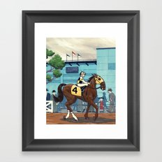 Day at the Races Framed Art Print