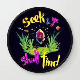 Legend of Zelda Seek and Ye Shall Find Wall Clock