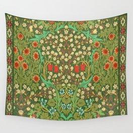 Green Garden Wall Tapestry