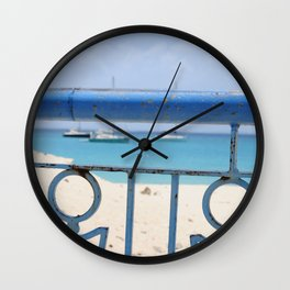 Island Metal Works Study: exhibit b Wall Clock