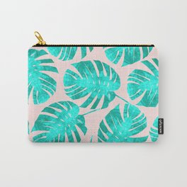 Minimalist tropical leaves Carry-All Pouch