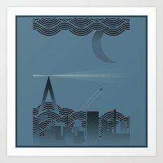 une nuit à paris (blue version) Art Print