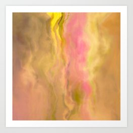 Golden Sunrise With Glorious Pink Streaks Abstract Art Print