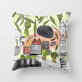 On a Stormy Day Throw Pillow