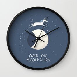 Over the Moon-icorn Wall Clock