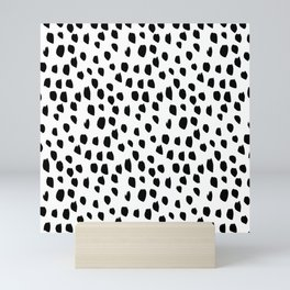 Hand drawn drops and dots on white - Mix & Match with Simplicty of life Mini Art Print