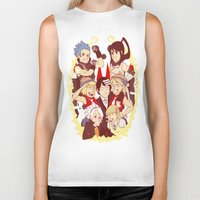 soul eater Biker Tanks featuring Soul Eater Meisters and Weapons by renaevsart