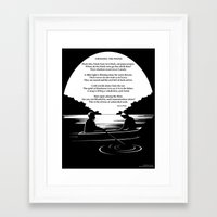 sylvia plath Framed Art Prints featuring Crossing the Water (poem) by Sylvia Plath by People Matter Creative