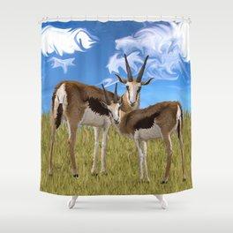 Grazing Gazelles Shower Curtain
