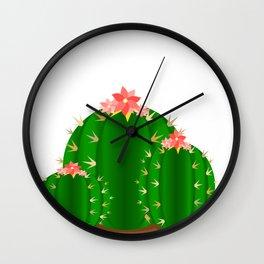 Round Cactus Family Wall Clock