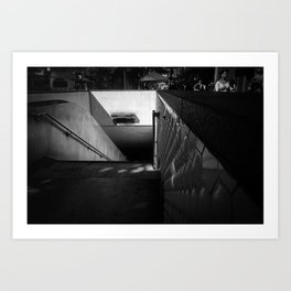 Powell & Market Bart. Art Print