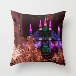 Christmas greetings from New York Throw Pillow