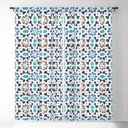 Morocco Pattern Oriental  Mosaic Design Blackout Curtain