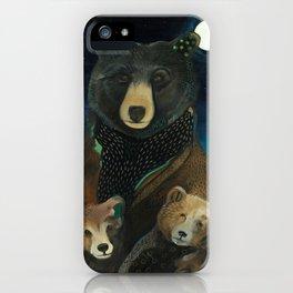 Mama Bear at Night iPhone Case