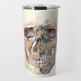 Human Skull Painting Travel Mug