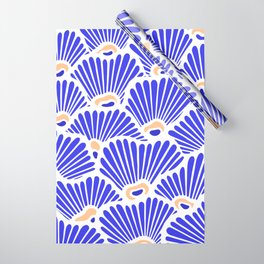 Blue Shell Pattern Wrapping Paper