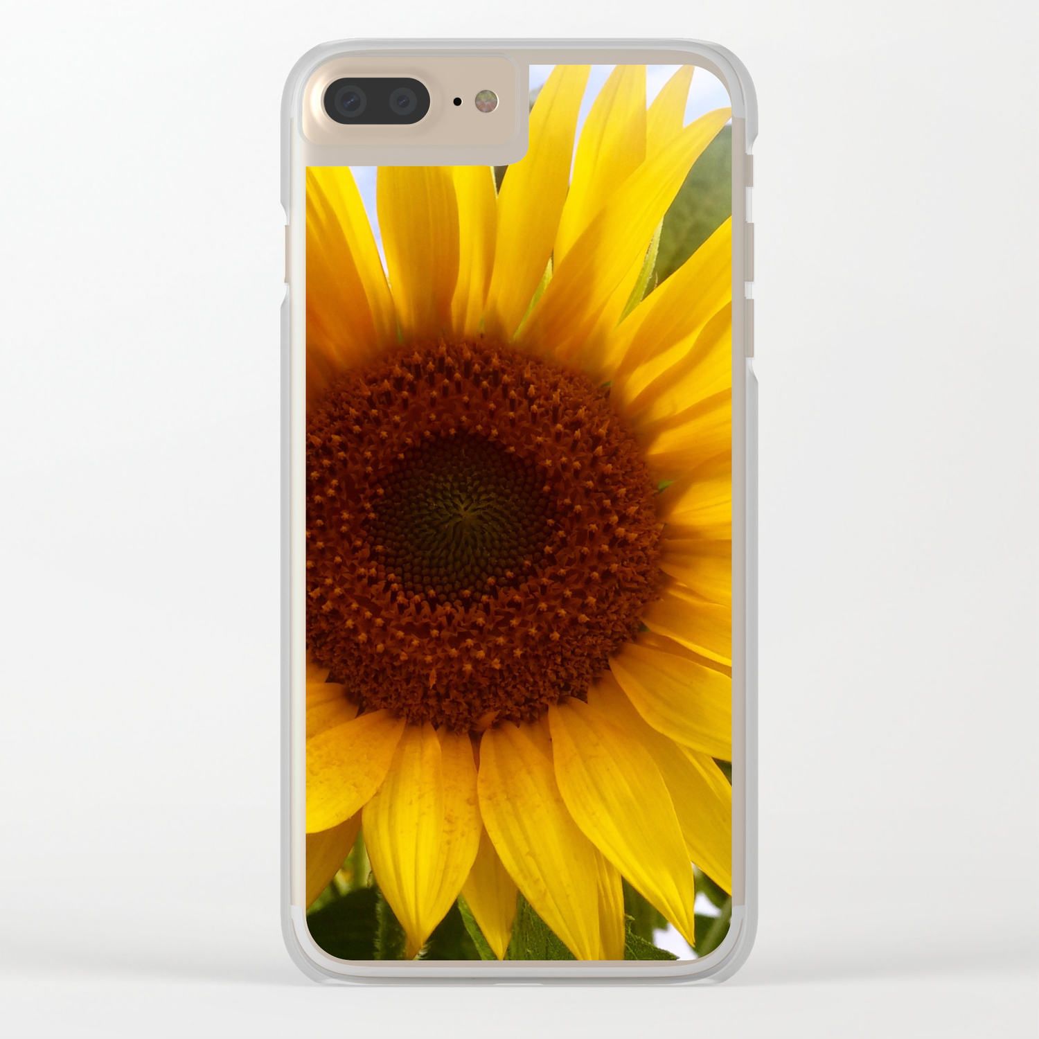 online store 910fb cd542 SunFlower Clear iPhone Case