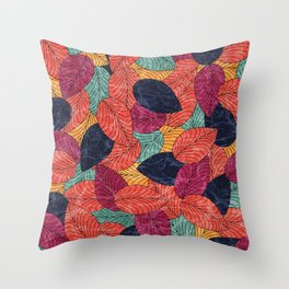 Let the Leaves Fall #05 Throw Pillow