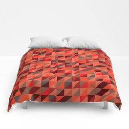 Quilted Reds / Retro Triangles Comforters