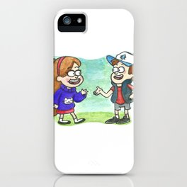 Mystery Twins by Maria Piedra iPhone Case