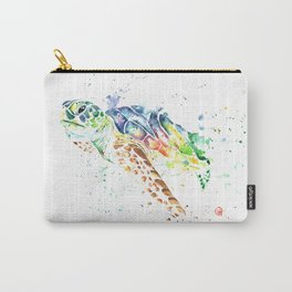 Sea Turtle Colorful Watercolor Painting Carry-All Pouch