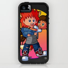 Tomboyish niece in her uncle's arms iPhone Case