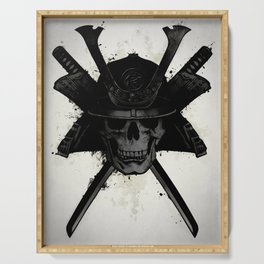 Samurai Skull Serving Tray