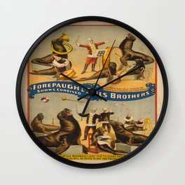 Vintage poster - Circus Performing Seals Wall Clock