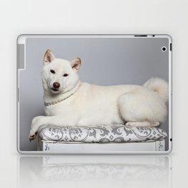 Cream Shiba Inu Dog Laptop & iPad Skin