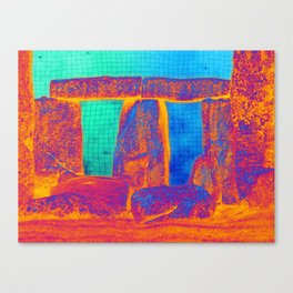 Stonehenge Meets Pop Art Canvas Print