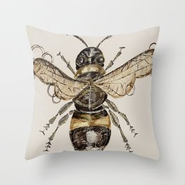 The Elizabethan Bee Throw Pillow