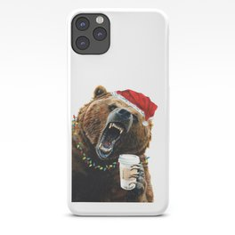 Grizzly Mornings Christmas iPhone Case