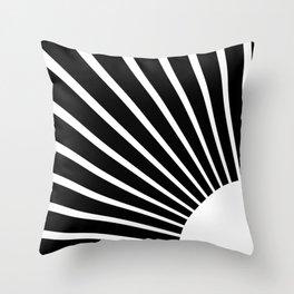 White rays Throw Pillow
