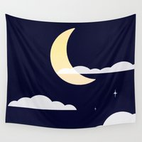 night sky Wall Tapestries featuring Night Sky by jozi.art