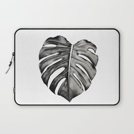 Monochrome Monstera Laptop Sleeve