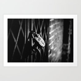 Locked Away Art Print