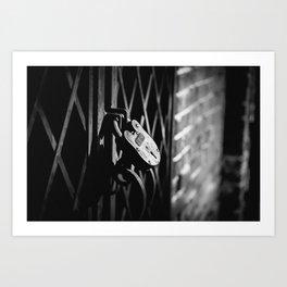 Locked Away Art Print