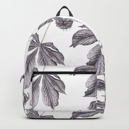 Floral pattern horse-chestnut Backpack