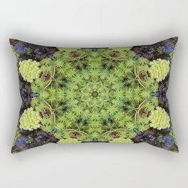 Filigree Foliage Kaleidoscope Rectangular Pillow