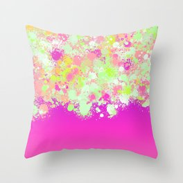 paint splatter on gradient pattern pgoi Throw Pillow