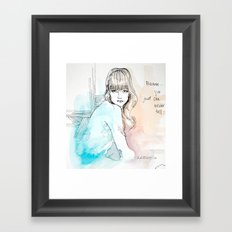 You Just Can Never Tell Framed Art Print