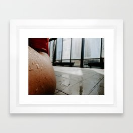 At The Pool Framed Art Print