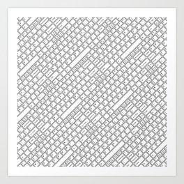 Keyboarded Art Print