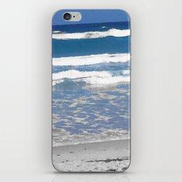faded beach iPhone Skin