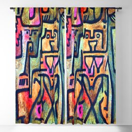 Paul Klee Woodland Witches Blackout Curtain