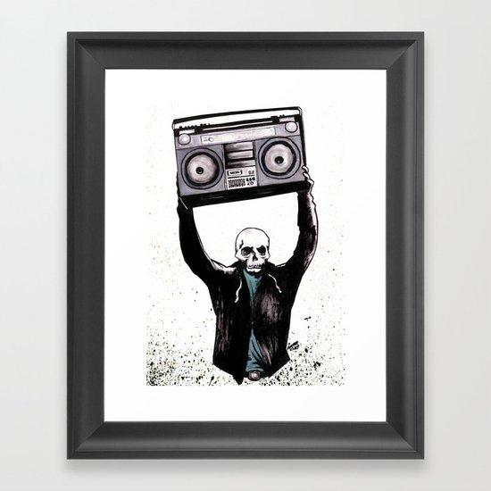 Boombox Framed Art Print