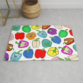 Rainbow Bell Peppers Paprika Rug